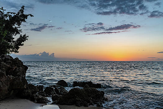 Sunset Afterglow in Negril Jamaica by Debbie Ann Powell