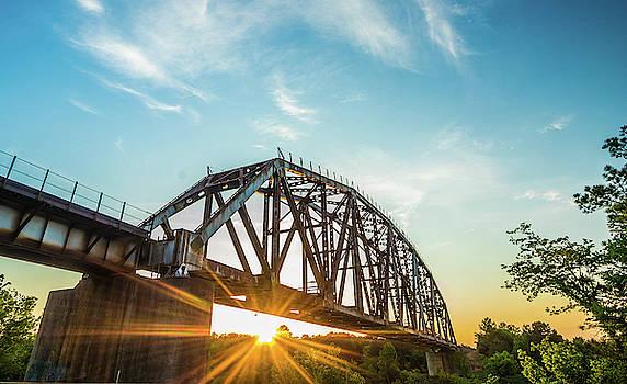 Sunset And Bridge by Jordan Hill