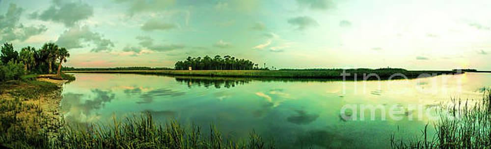 Sunset At Florida Wetlands, Panorama by Felix Lai
