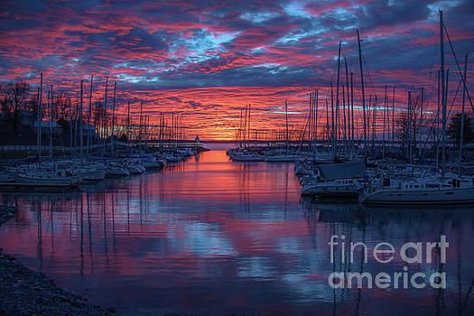 Sunset at Grand Rivers by Warrena J Barnerd