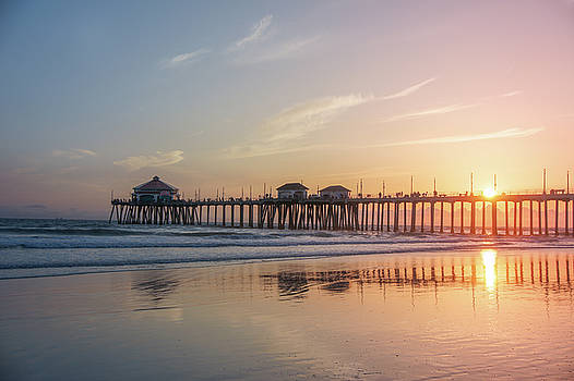 Sunset At Huntington Beach by Art Spectrum