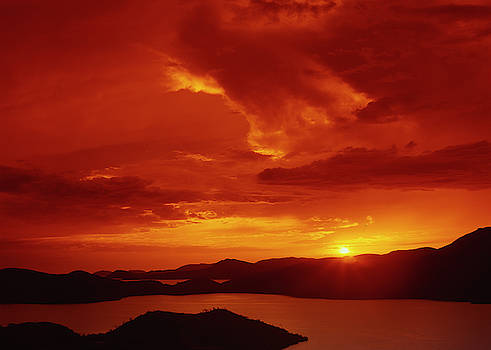 Sunset at Mochima bay by Eugenio Opitz