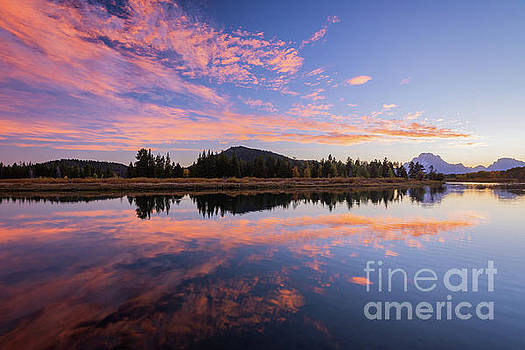 Sunset At Oxbow Bend by Doug Sturgess