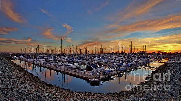 Sunset at Pier 32 Marina in National City, California by Sam Antonio Photography