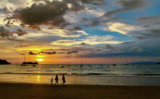 Sunset at Playa Hermosa by Stephen Anderson