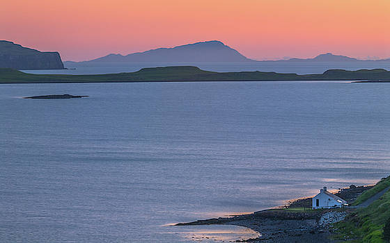 David Ross - Sunset at Stein, Waternish, Isle of Skye