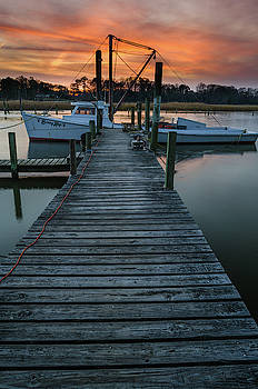 Sunset At The Dock by Mike O'Shell
