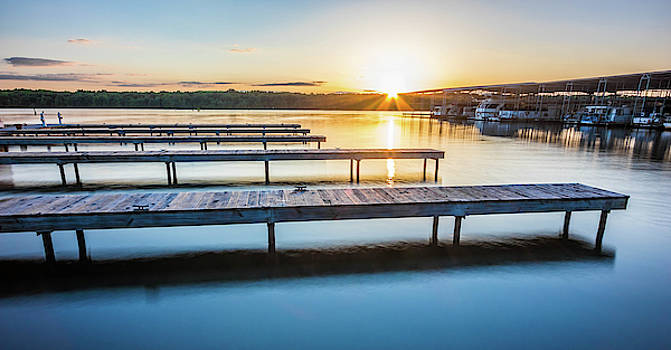Sunset At The Marina by Jordan Hill