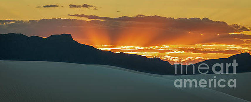 Sunset At White Sands by Doug Sturgess