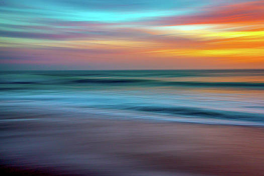 Colorful Sunset Beach Abstract by R Scott Duncan