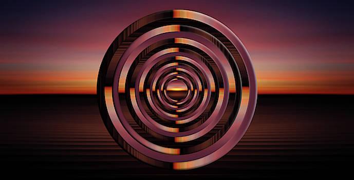 Pelo Blanco Photo - Sunset Circles