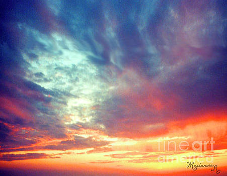 Sunset Clouds by Mariarosa Rockefeller