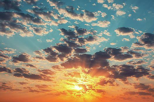 Sunset dramatic sky clouds by Valentin Valkov