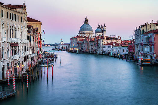 Sunset from Ponte dell'Accademia by Randy Lemoine