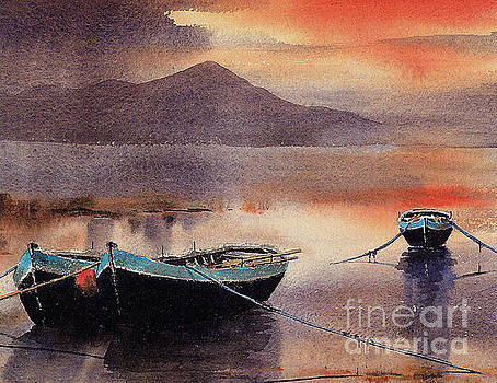 Val Byrne - Sunset from Roundstone, Galway