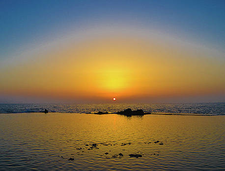Sunset in Akka by Leslie Carbone