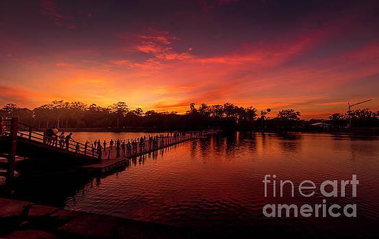 Pravine Chester - Sunset in Angkor