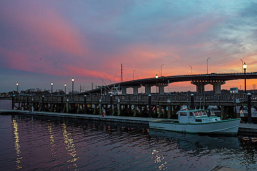 Toby McGuire - Sunset in Beverly Harbor Beverly MA Pier