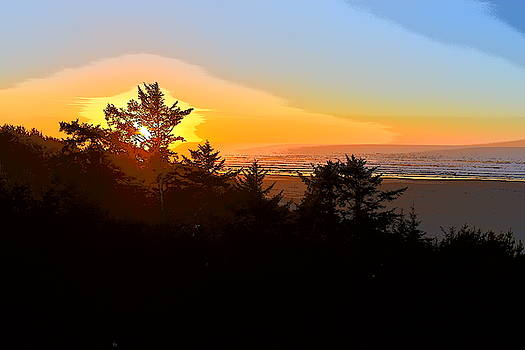 Sunset in Newport  by Susan Voidets