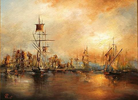 Vali Irina Ciobanu - Sunset in port