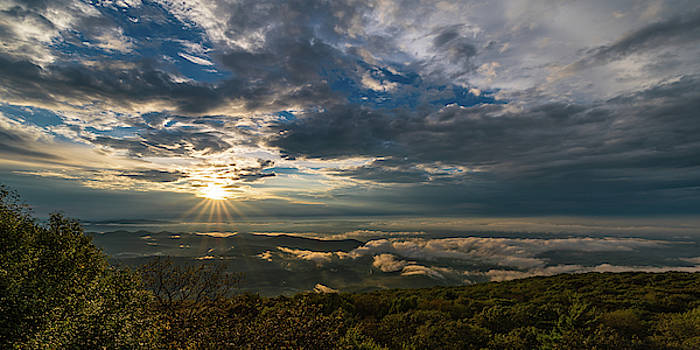 Sunset in Shenandoah National Park seen from Blackrock Peak by William Dickman