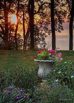 Sunset in the Garden by Rebecca Samler