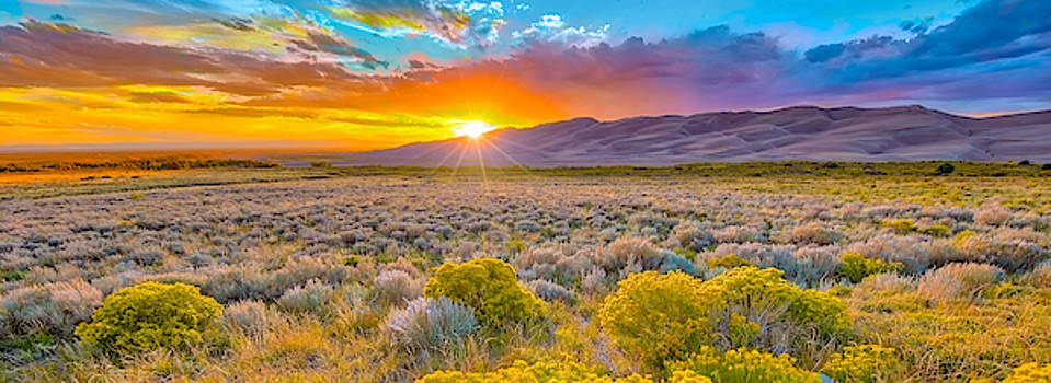 Sunset in the Great Sand Dunes by Fred J Lord