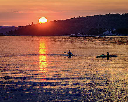 Sunset Kayakers by John Wilkinson