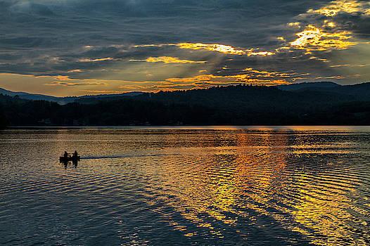 Sunset Kayaking  by Betty Pauwels