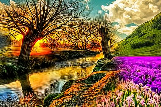 Sunset landscape by AE collections