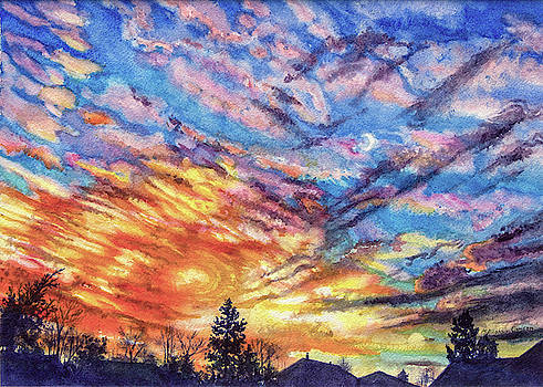 Sunset Layers by Patricia Allingham Carlson