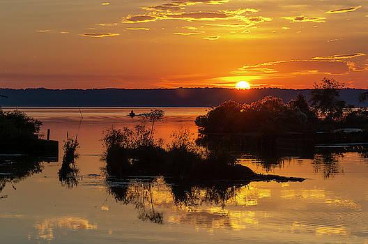 Sunset, Mallows Bay by Cindy Lark Hartman