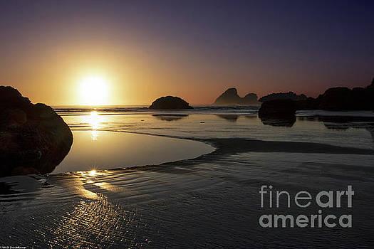 Sunset Moonstone Beach by Mitch Shindelbower