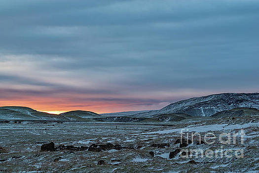 Sunset near Hveragerdi, Iceland by Luigi Morbidelli