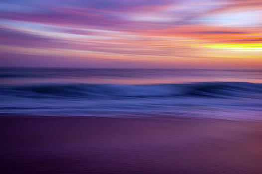 Sunset Ocean Abstract by R Scott Duncan