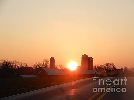 Christine Clark - Sunset on an Amish Country Road