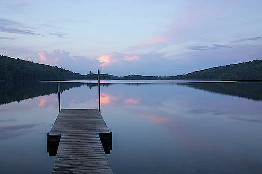 Sunset on Eighth Lake in the Adirondacks by Morgain Bailey