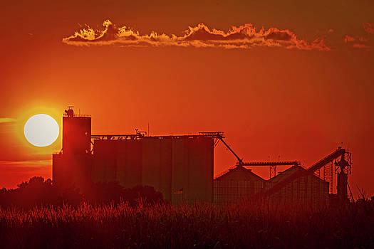 Sunset on Hardin Missouri Elevator by Rick Grisolano Photography LLC