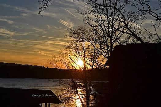 Sunset on Lake Hamilton in Arkansas by Carolyn Hebert