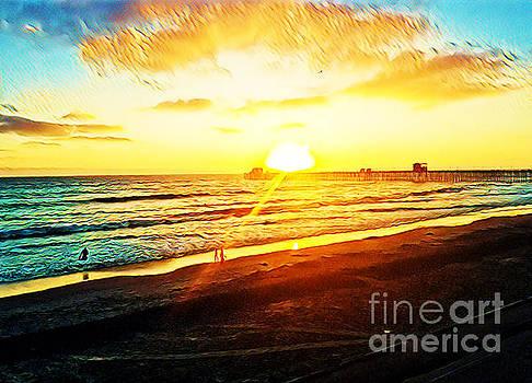 Sunset On Oceanside Pier  by Tammera Malicki-Wong