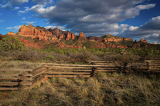 Rick Strobaugh - Sunset on Red Rock Formations