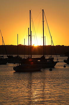 Sunset on San Diego Bay by Fred Hood