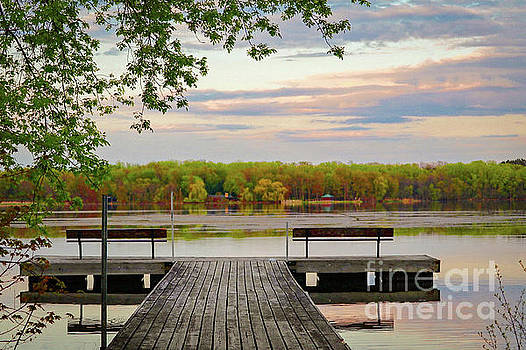 Sunset on the Lake by Susan Rydberg