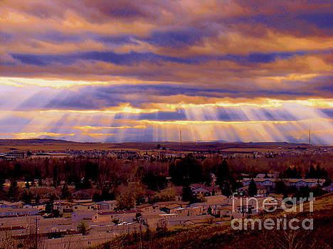 Sunset On The Rockies V by Al Bourassa