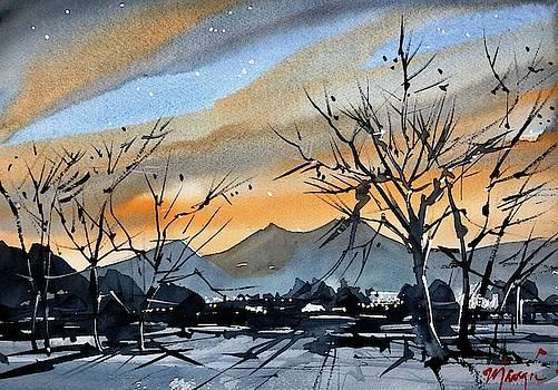 Sunset over Boulder by Ugljesa Janjic