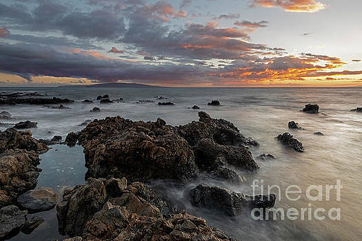 Sunset over Kahoolawe by Mike Dawson