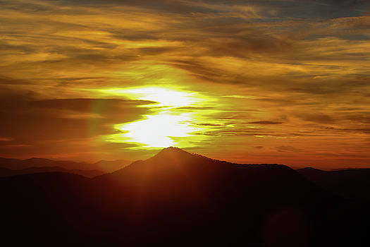 Sunset Over Mountain  by Lisa Bell