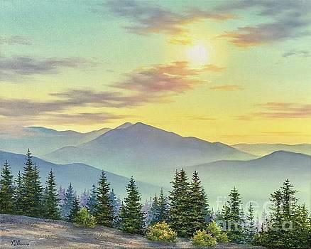 Sunset over Mt Madison and Adams by Varvara Harmon