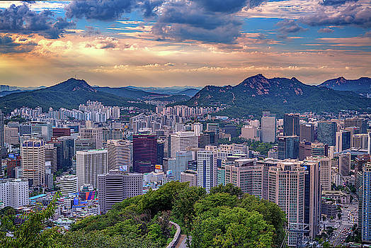 Sunset Over Seoul by Rick Berk