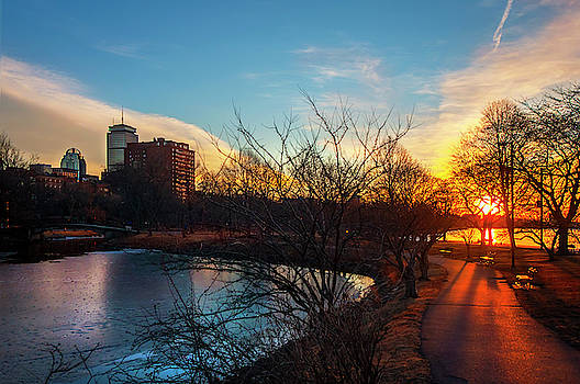 Joann Vitali - Sunset over the Charles River Esplanade